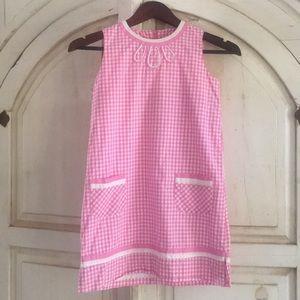 Lilly Pulitzer Girls Gingham Sz 10 Shift Dress.